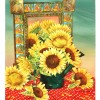 Myra Epstein 126 Still Life With Sunflowers With Mexican Mirror