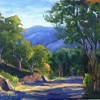 Olivia Hernandez Afternoon Shadows On Kagel Canyon Road 11 X 14 Oil On Canvas