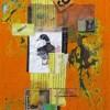 Launa D. Romoff 409 I Am A Duck 30x10 650 Mixed Media Collage