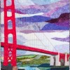 Linda Stone Storm Over The Golden Gate 38x48 Fabric Couching Fabric Pens Machine Quilting 1600 E1476396536211