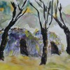 Paula Diggs Chumash Heritage Watercolor On Paper 12x17 400