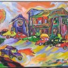 Tracy Levin Hotrods 32x40 OIl On Canvas 2500 E1498946897777