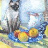 BARALJoan Still Life Cat 18x24 Oil On Canvas 3000 E1513192633295