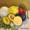 Inga Windsor Mild Guacamole 8x8 Oil On Canvas 300 Or All 3 For 8001 E1513186353133