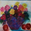 KathleenBureski FlowersandGrapes 21 X 27 Framed Watercolor 400.JPG E1513192330143