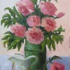 OHearn Roses And Creamer 14x11 Oil 400. E1513188197999