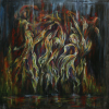 JudithShapiro TheDancingFlames Acrylic On Canvas 30x303000  E1519237764605