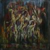 JudithShapiro TheDancingFlames Acrylic On Canvas 30x303000  E1519237764605