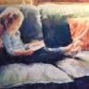 JillHackett TheBookworm Soft Pastel 17x14 Framed 225