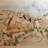 VanDo BiggerThanLife MountRushmore SouthDakota 12x14 Ink And Watercolor 1000 E1529103435241