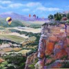 C. DeCoudres Balloons Over Ronda Spain 16x20 Oil On Canvas 750 E1534628749660