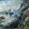 JudithShapiro MotherAndDaughter   St Martin 24x36 Acrylic On Canvas E1534022730309