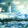 Olga Kaczmar NubbleLighthouse Watercolor On Paper 18x15 200 E1534024548962