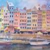 April Drew Foster Honfleur Harbor 9x12 Watercolor E1538708956130