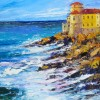 Beth Summers Bocali Castle Italy 16x20 Oil O Canvas 725s E1538712047201