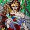 Diana Turin Enchantress 85x25x1 Translucent Hand Cut Glass Mosaics Millefiorie Smalti Framed E1538711582901
