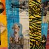 FrankVentrola CargoCults 12x16 5 Mixed Media Collage On Wood Panel Box 520