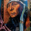 Harry Nickelson Chief Hollow Horn Bear OIl On Plexi Glass 40x30 2100