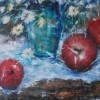 Susie Choi Apples For Rainy Day 8x24 Oil 1850