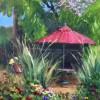 Celeste DeCoudres Arlington Garden 8x10 Oil On Canvas Board 350
