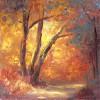 DebraHintz GoldenPathway 6x6 Oil On Canvas 175 E1544303270945