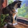 JillHackett In The CatbirdSeat 13x15 Framed Soft Pastel On Pastelboard 190