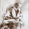 JudthShapiro TheThinker 6x9 Etchings On Paper 180