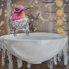 Laura Ledesma Hummingbird 3 6x6 Acrylic E1544303029892
