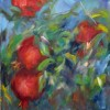 RachelWeissberger Pomegranates Oil On Canvs 12x12 Gallery Wrapped 180  E1544300938799