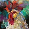 Debbigreen Gallo G 8x8x2 Oil On Canvas 425