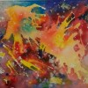 Paula Diggs Watercolor In The Beginning 450 14X16
