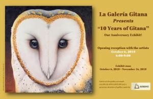 date 10 Years of Gitana Postcard Yellow